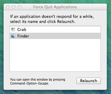 Force Quit Application on Mac